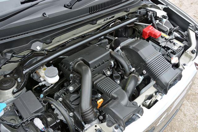 アルト ターボRSと同じ形式のエンジンだが、トルクが向上し、レスポンスも改良された
