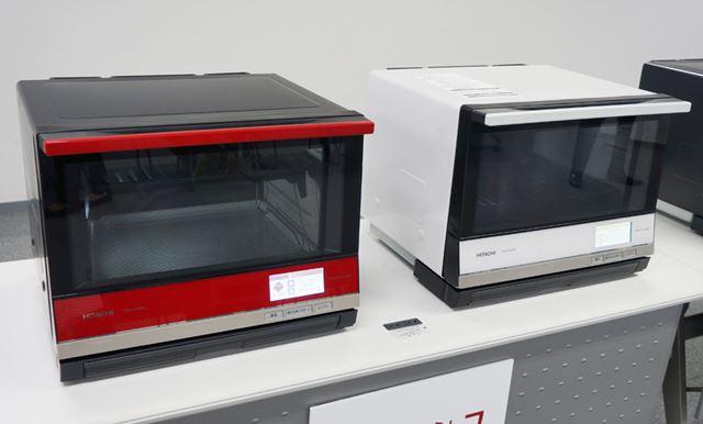 「ヘルシーシェフ MRO-SV3000」の庫内容量は33Lで、メタリックレッドとパールホワイトをラインアップ
