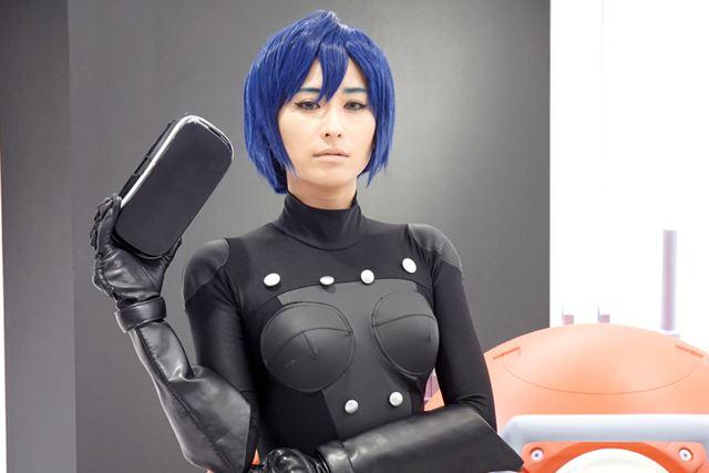 「I.Gストア」で行われた先行体験会には、草薙素子に扮したモデルさんも登場