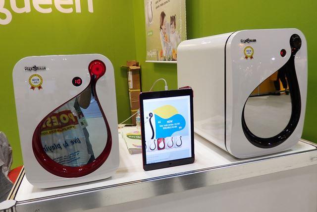 RayQueenのある韓国では、「Baby bottle sterilizer」のような除菌専用の家電はとても普及しているのだそう