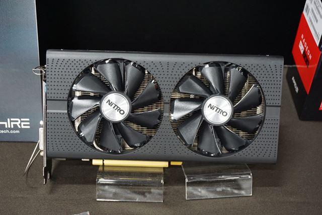 SAPPHIREブースは、NITROシリーズのRadeon RX 480搭載ビデオカード「NITRO Radeon RX 480」を参考出展