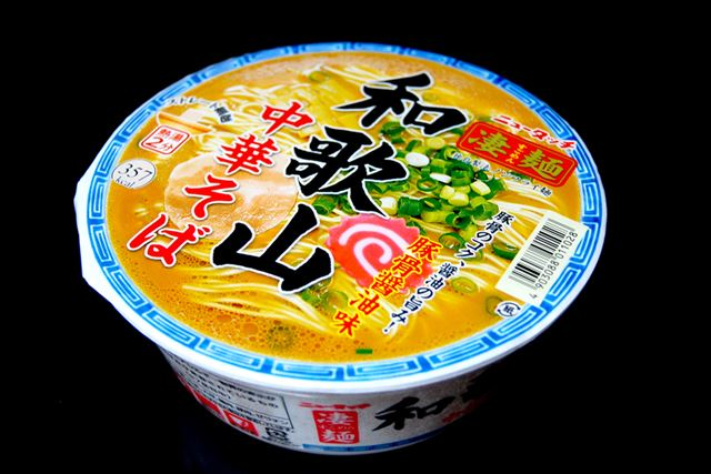 ヤマダイの「凄麺 和歌山中華そば」。内容量は117g(麺60g)