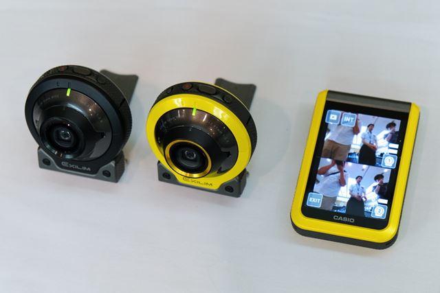 マルチカメラ撮影はEX-FR100とEX-FR100のカメラ部の組み合わせでも利用できる