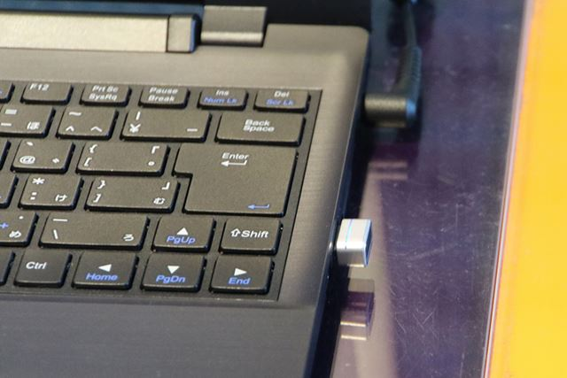 マウスコンピューターのWindows Hello対応の外付け指紋センサー「mouse FP01」