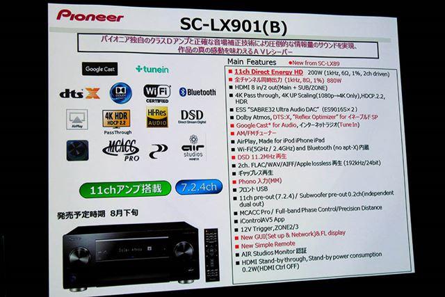 「SC-LX901」の主な仕様