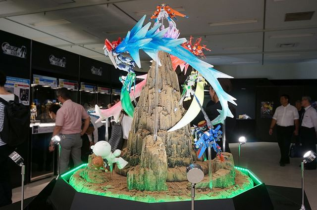 「GBF」の世界を再現したジオラマの展示もあります