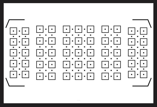153点(選択可能ポイント55点)のフォーカスポイントが画面を広くカバーする
