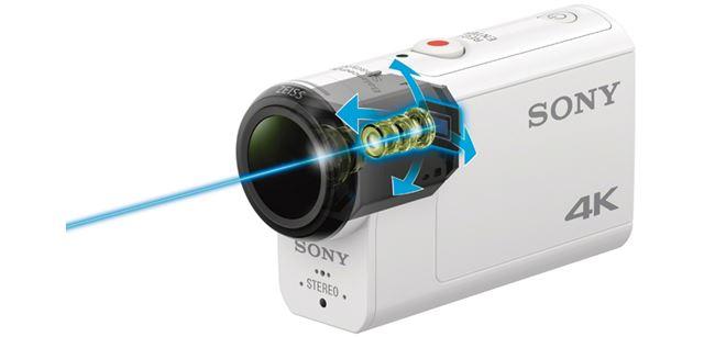 レンズとセンサーを一体化して浮かせるように搭載することで、本体の振動が伝わらないようにしている