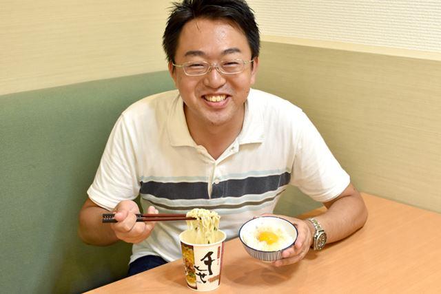 """卵かけご飯との組み合わせに、""""ラーメン大好き松田""""さんも大満足"""
