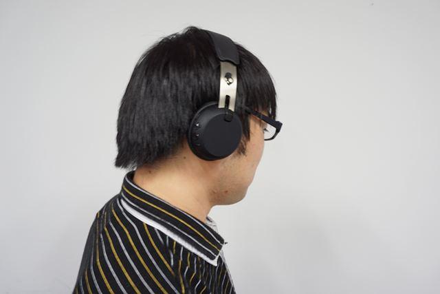 メガネ族なら誰もが感じるヘッドホン装着時の違和感が、GRIND Wirelessだと圧倒的に少ない