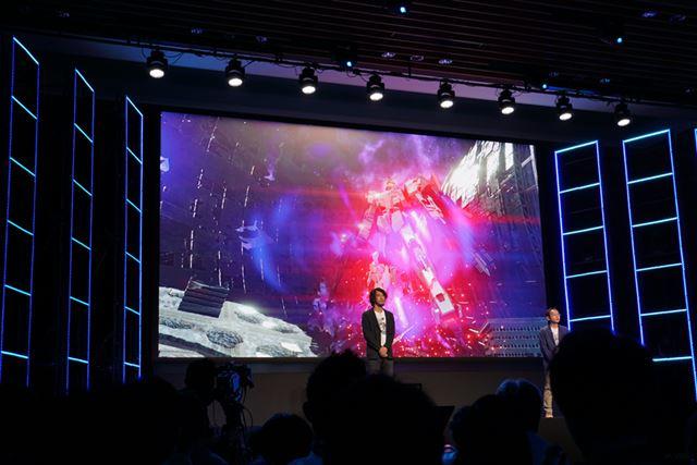 開発中の「機動戦士ガンダム バーサス」の画面