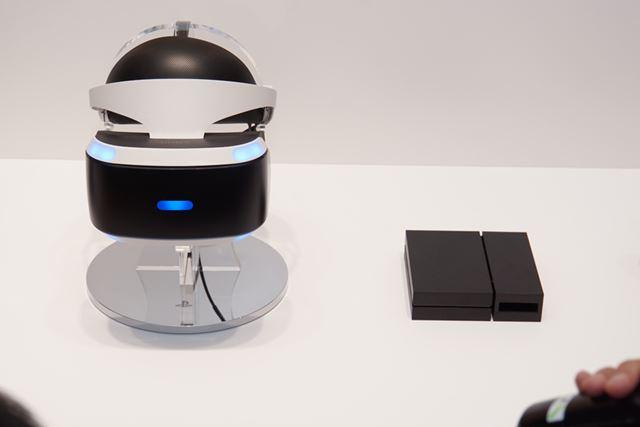 会場に展示されていたPS VR