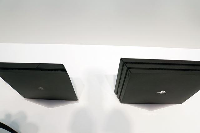 新型PS4は非常に薄型だ