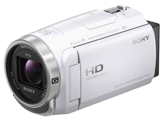 ソニー「HDR-CX680」(ホワイト)