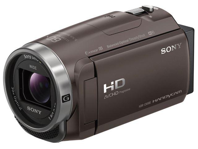 ソニー「HDR-CX680」(ロンズブラウン)