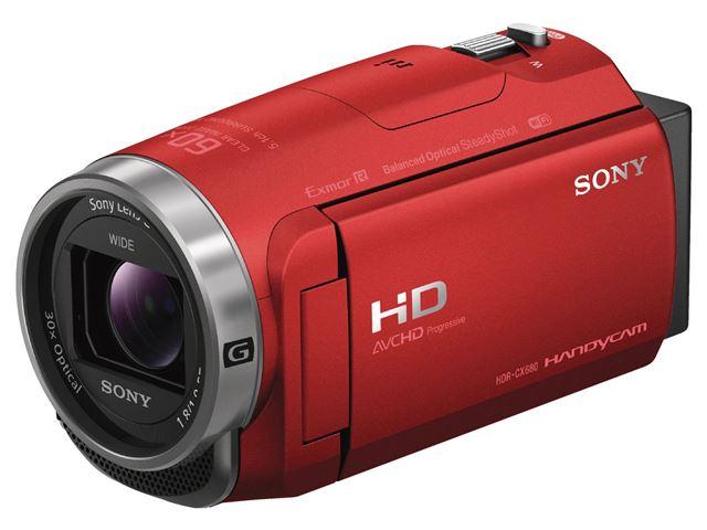 ソニー「HDR-CX680」(レッド)