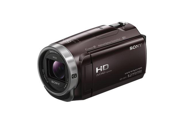 ソニー「HDR-CX675」(ボルドーブラウン)