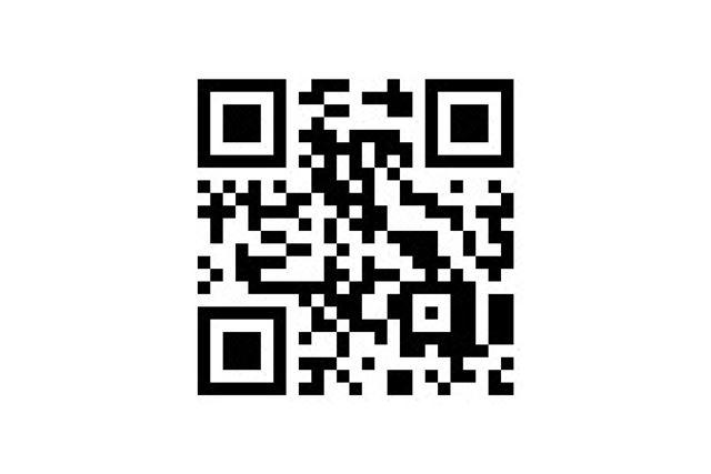 これがQRコード。この中に、数字や文字、URLなどの各種情報を埋め込まれている