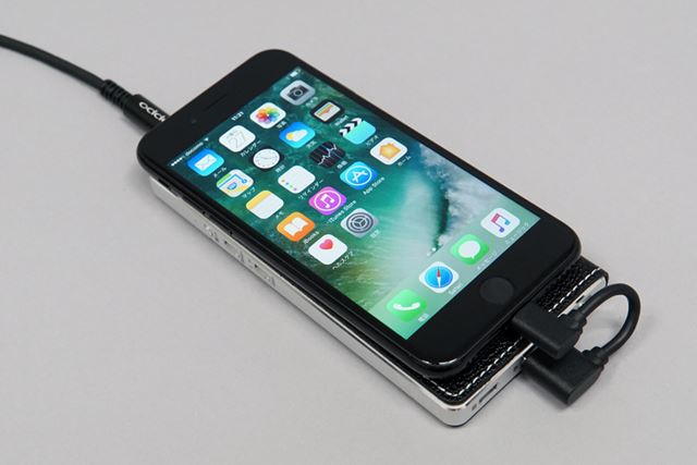 iPhone 7と接続したところ