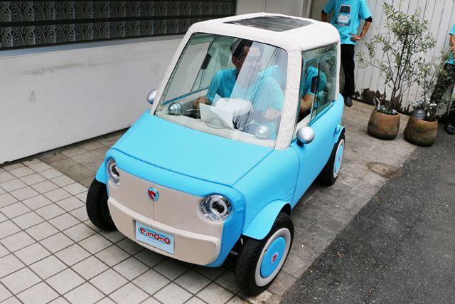 rimOnOの車体は一般的な乗用車の1/4のサイズなので、駐車スペースも少なくてすむ