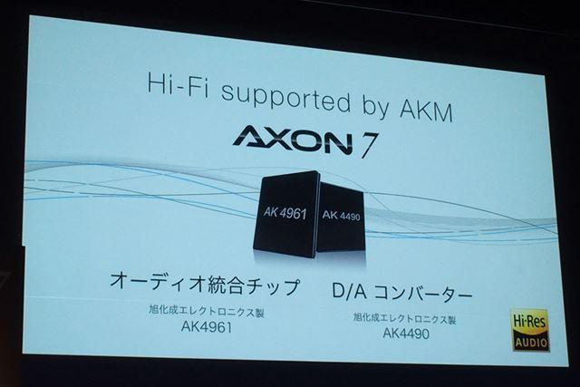 旭化成エレクトロニクス製のオーディオ統合チップとD/Aコンバーターを搭載