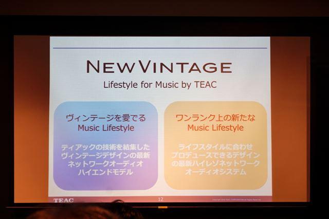 新製品は、NEW VINTAGEという大きなコンセプトテーマに沿って開発された