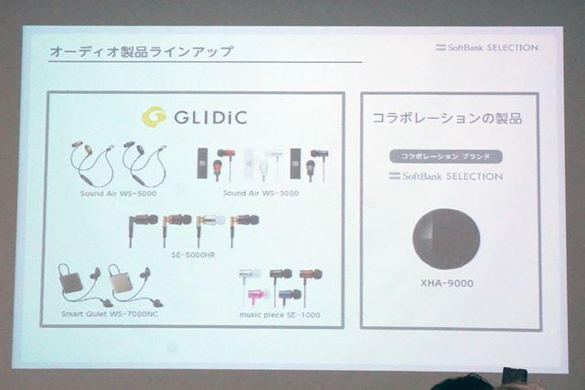 新ブランドの立ち上げに合わせて投入した2モデルを含む全5モデルがGLIDiCブランドで展開される