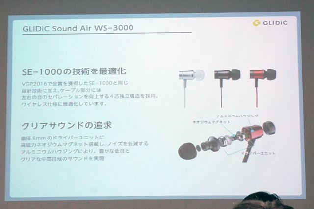 Sound Air WS-3000は、music piece SE-1000がベース