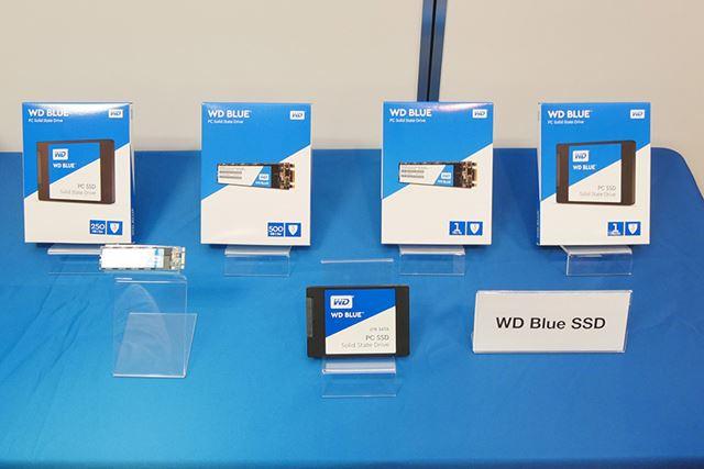 250GB/500GB/1TBの3モデルをラインアップする「WD Blue SSD」