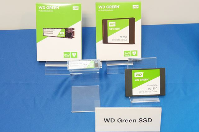 120GBと240GBの2モデルをラインアップする「WD Green SSD」