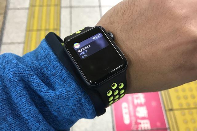 Suicaを登録すれば、Apple Watch Nike+だけで電車に乗れる