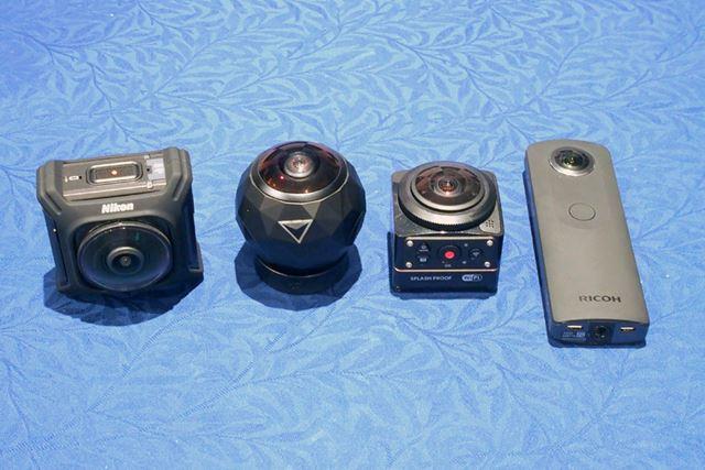 他社製360°カメラとの大きさの比較
