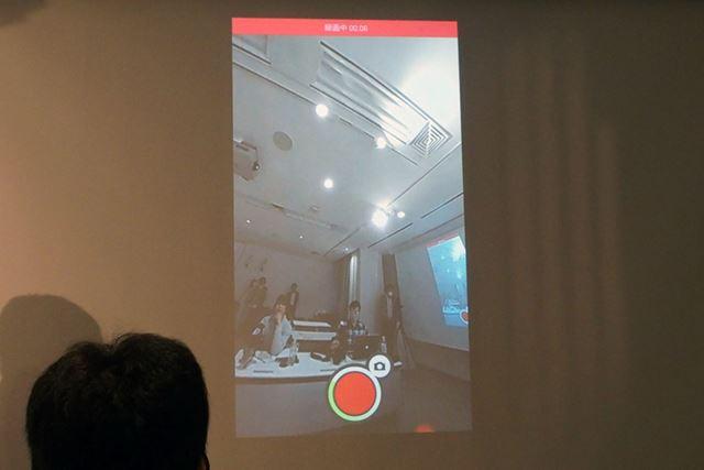録画中のライブビューのデモの様子。録画中でも360°動画をリアルタイムで確認できる