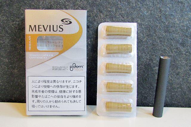 1箱に1本の専用カートリッジと、たばこカプセルが5個入っている