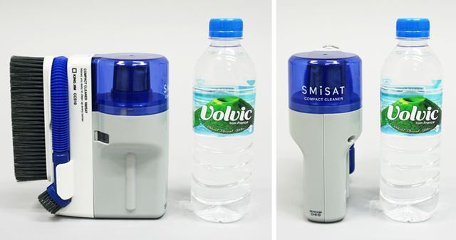 サイズは75(幅)×165(高さ)×156(奥行)mmで、500mlペットボトルよりも低く、幅はほぼ同等