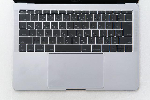 Touch Bar非搭載の13インチモデルのキーボード