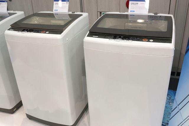 洗濯容量8kgタイプと、7kgタイプが用意される