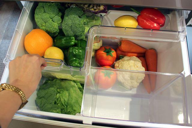 内側にしまっている野菜を取り出すと…