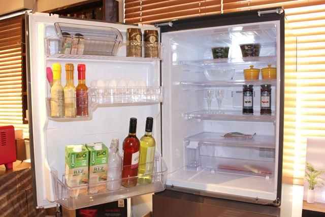 冷蔵室を開けたところ