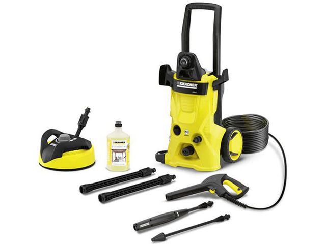 泥汚れやブレーキダストの除去に便利な高圧洗浄機。この製品は動作音が抑えられており家庭向きだ