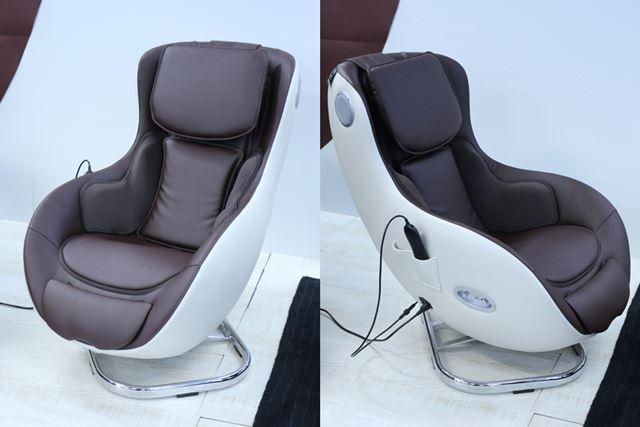 シートは左右45°回転する。立ったり座ったりという動作がしやすいほか、左右に揺れるのも気持ちがいい