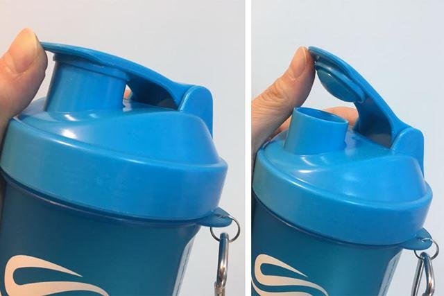 指をひっかけてグッと押すことで開きます。ワンタッチなのに水漏れしない優れもの
