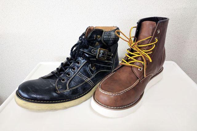 類似の普通の靴と比較しても違和感なし