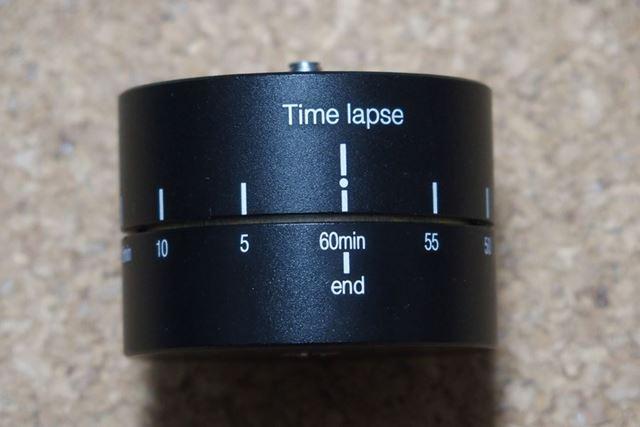ひとメモリ(30度)分回転するのに5分かかります。1周するには60分かかります