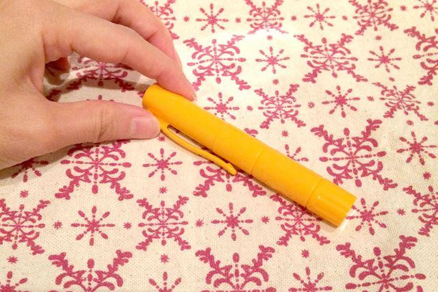 普段はキャップをかぶせて、ペンのように保管できます