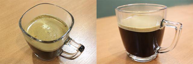 淹れたてのコーヒーの表面には、きめが細かく厚みがあるクレマが立っている