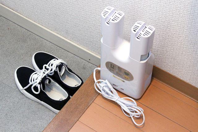 1人用の小さな靴箱にもしまいやすいし、玄関にそのまま出しておいてもじゃまになりにくいサイズ