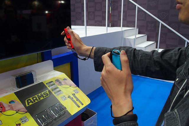 「Joy-Con」が軽量なため、Wiiリモコンのように腕の負担になりにくかった