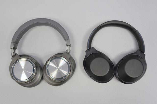 aptX HDに対応したオーディオテクニカ「ATH-DSR9BT」(左)と、LDACに対応したソニー「MDR-1000X」(右)