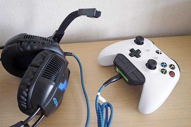 ゲームのコントローラーに直接差して使います